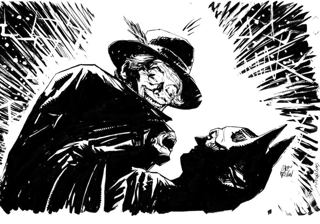 Batman - Joker Sketch by thisismyboomstick