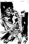 Batman Joker cover inks