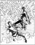 Catwoman v Twoface commission