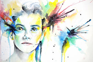 Chris Colfer watercolor by mssirpercy
