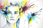 Chris Colfer watercolor