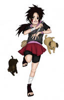 Collab: Aburame Ayaka and Dogs by Jyukai-Koudan