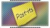 Post-it Stamp by DaMoni
