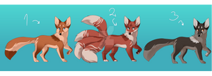 [OPEN] Fox and Kitsune Adopts