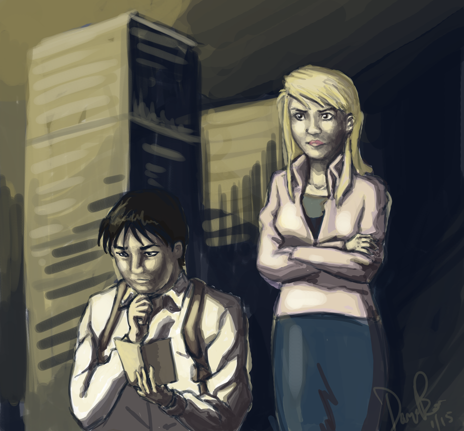 FMA - Screencap Redraw of Roy and Riza by MissCaltra