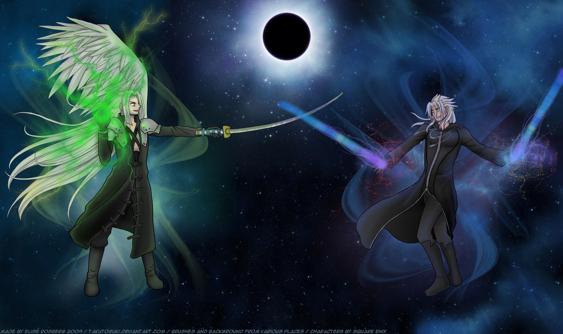 Sephiroth and Xemnas by hyacinthess on DeviantArt