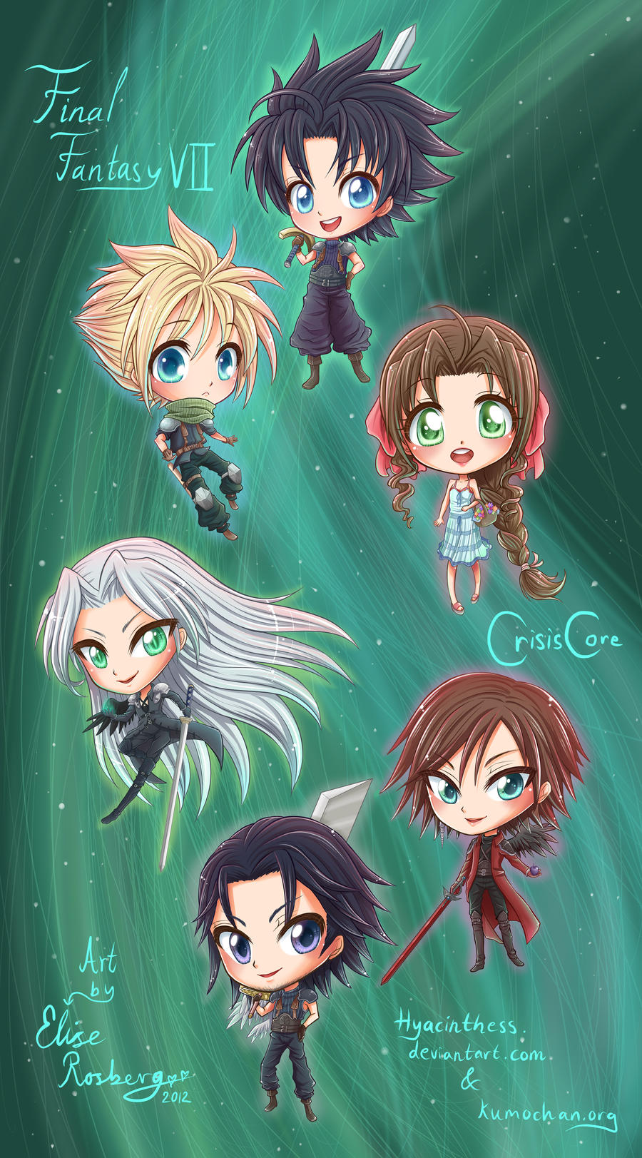 - Final Fantasy Crisis Core Chibis - by hyacinthess