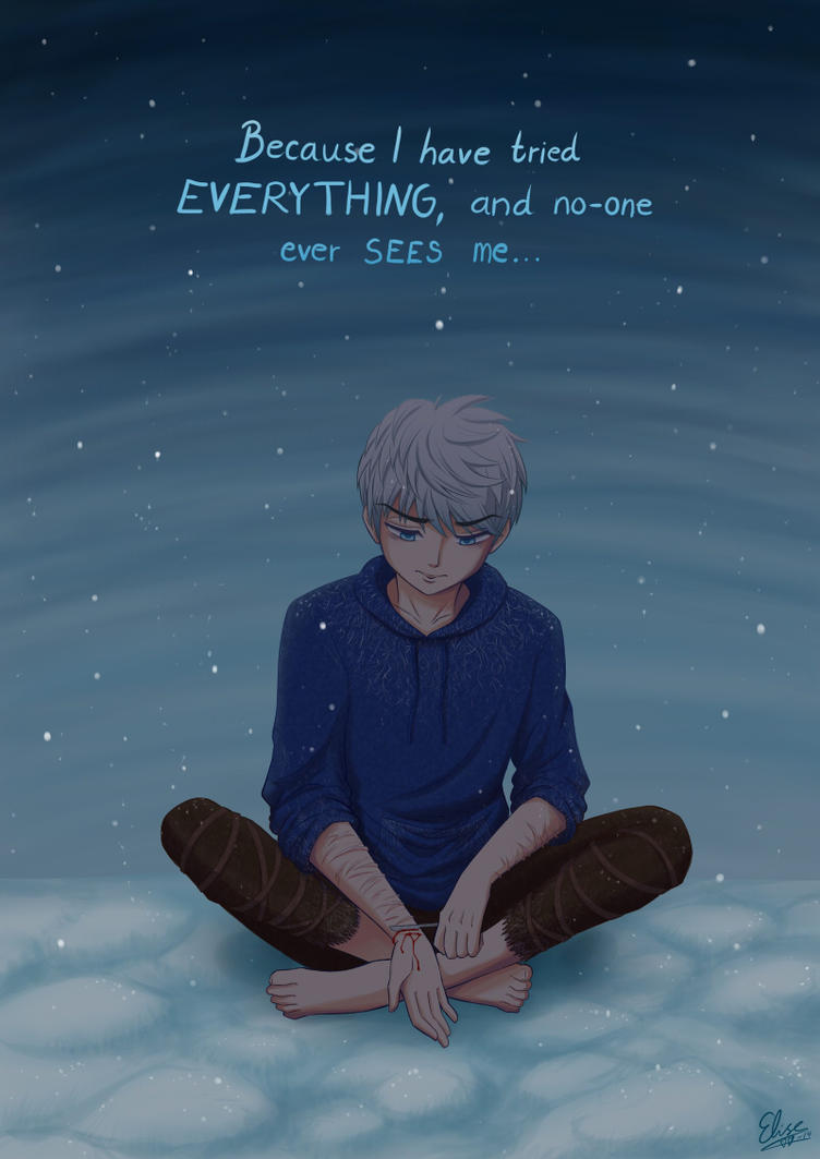 Jack Frost self-harms (tw:selfharm) by hyacinthess
