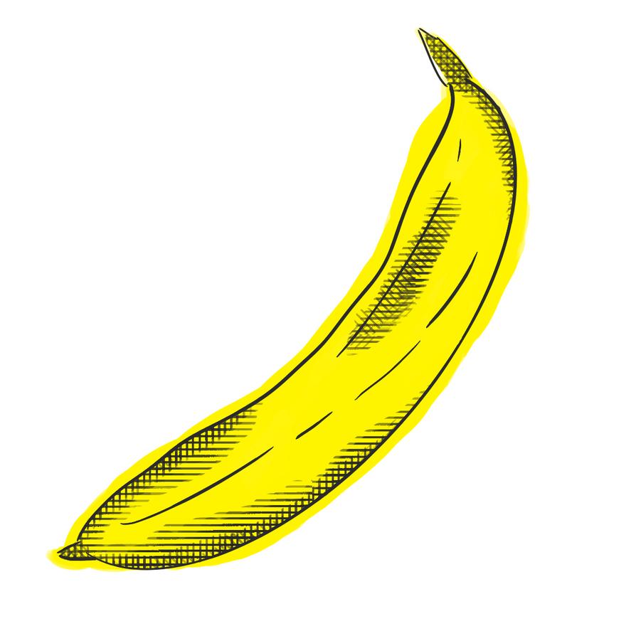 Warhol style Banana by BluSquish