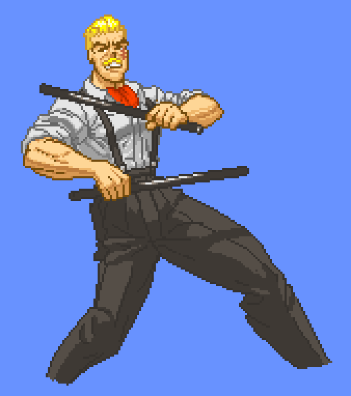 Pixel Art Eagle From Street Fighter By Marcness1313 On Deviantart