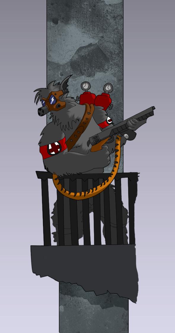 Anthro Wolf Soldier Wolf Soldier by Shinjiku