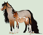 Mare and Foal Adopt  SET PRICE CLOSED 