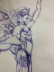 Quick sketch of plum fairy mercy!