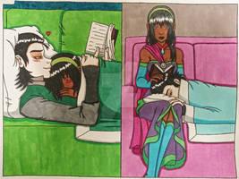 Lokane Library naps