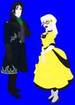 Snape and Haruki Disney style by Yoitefriend