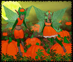 Pumpkin Fairy Princess and Prince by Yoitefriend