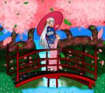 Dafu in a Sakura Garden by Yoitefriend