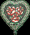 Woven Rose Heart
