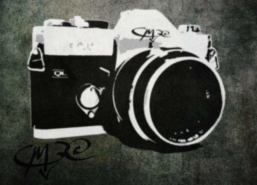 Camera Stencil Mock-up by JMarFtAtkinson