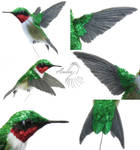 [Needle felted/crafted] R.-T. Hummingbird #2