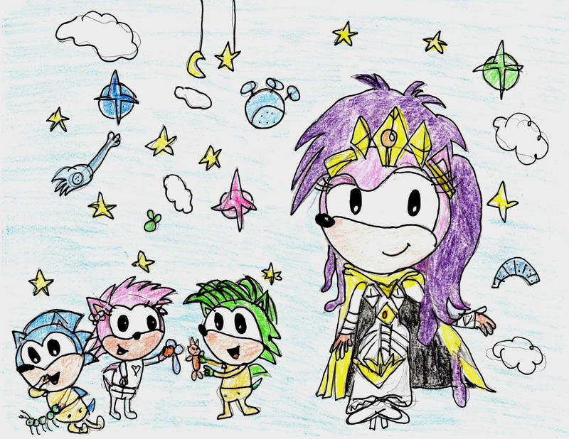 Sonic Underground Family Photo (old art) by Cartooncat120