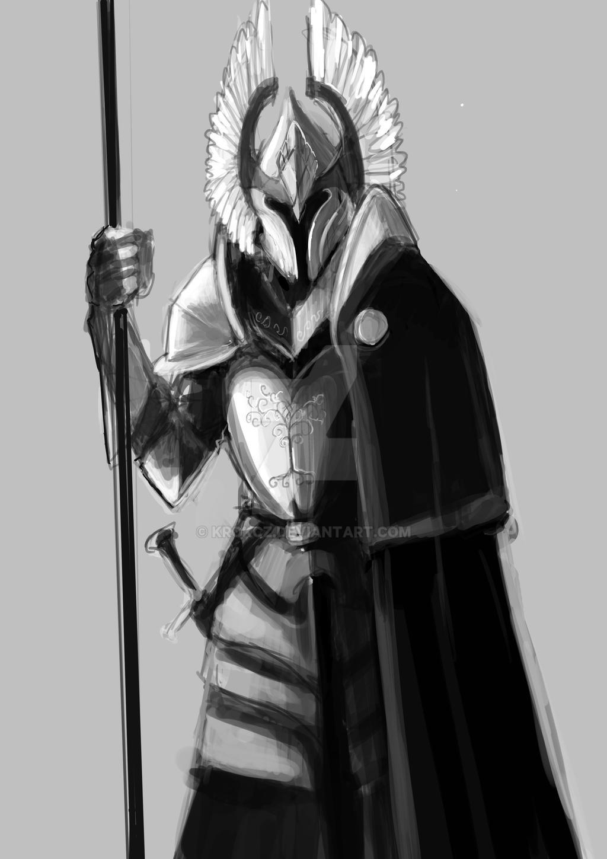 Elysium: Sombras em Nevriande (D&D 3.5) - Página 4 Gondor_sentinel_by_krokcz_d8qamy3-fullview.jpg?token=eyJ0eXAiOiJKV1QiLCJhbGciOiJIUzI1NiJ9.eyJzdWIiOiJ1cm46YXBwOiIsImlzcyI6InVybjphcHA6Iiwib2JqIjpbW3sicGF0aCI6IlwvZlwvYTFkZjlhNzUtN2ZiZC00NDAxLWIxYjAtYzk2YWJmMTdiNjI5XC9kOHFhbXkzLTdkYjg0Njc0LWQzNmItNGZmYS05Y2Q1LWJmMGYzNjljYmE2Yi5qcGciLCJoZWlnaHQiOiI8PTE0NDkiLCJ3aWR0aCI6Ijw9MTAyNCJ9XV0sImF1ZCI6WyJ1cm46c2VydmljZTppbWFnZS53YXRlcm1hcmsiXSwid21rIjp7InBhdGgiOiJcL3dtXC9hMWRmOWE3NS03ZmJkLTQ0MDEtYjFiMC1jOTZhYmYxN2I2MjlcL2tyb2tjei00LnBuZyIsIm9wYWNpdHkiOjk1LCJwcm9wb3J0aW9ucyI6MC40NSwiZ3Jhdml0eSI6ImNlbnRlciJ9fQ