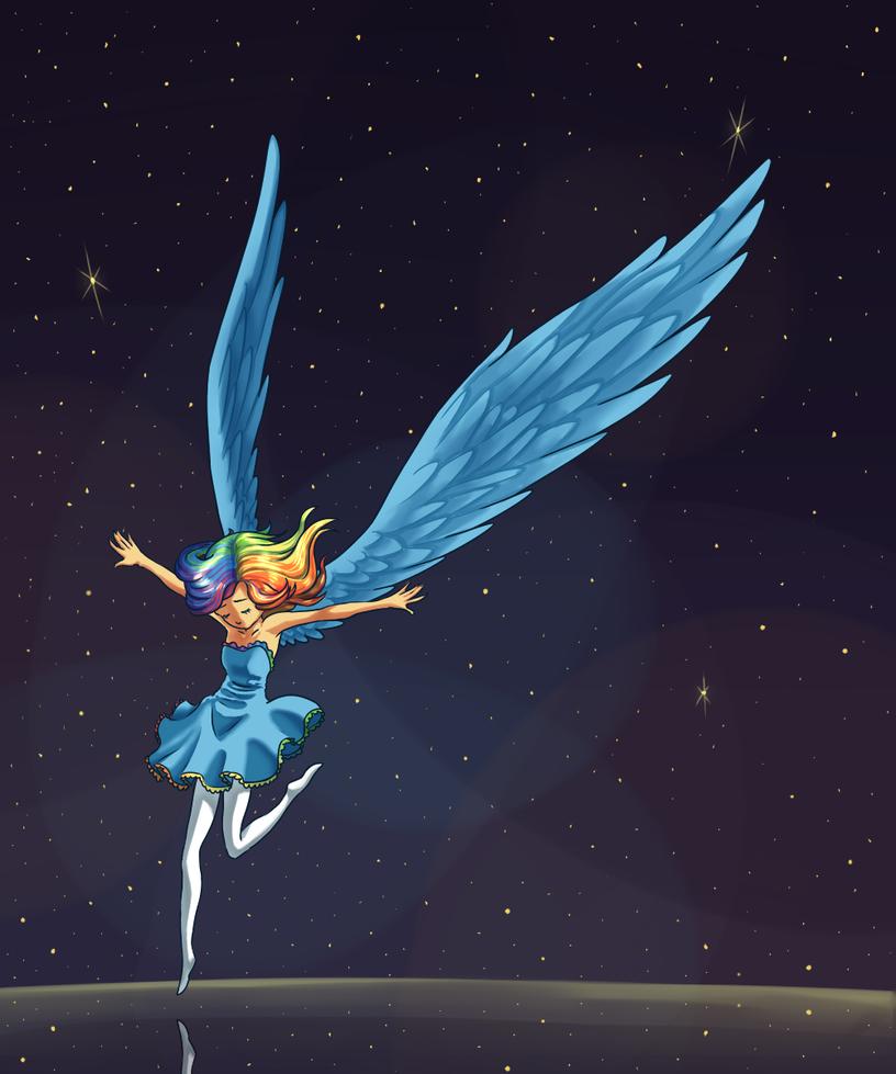 an angel falls by Lantaniel