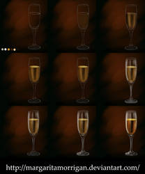 a glass of champagne by margarita-morrigan