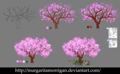 Sakura tree by margarita-morrigan