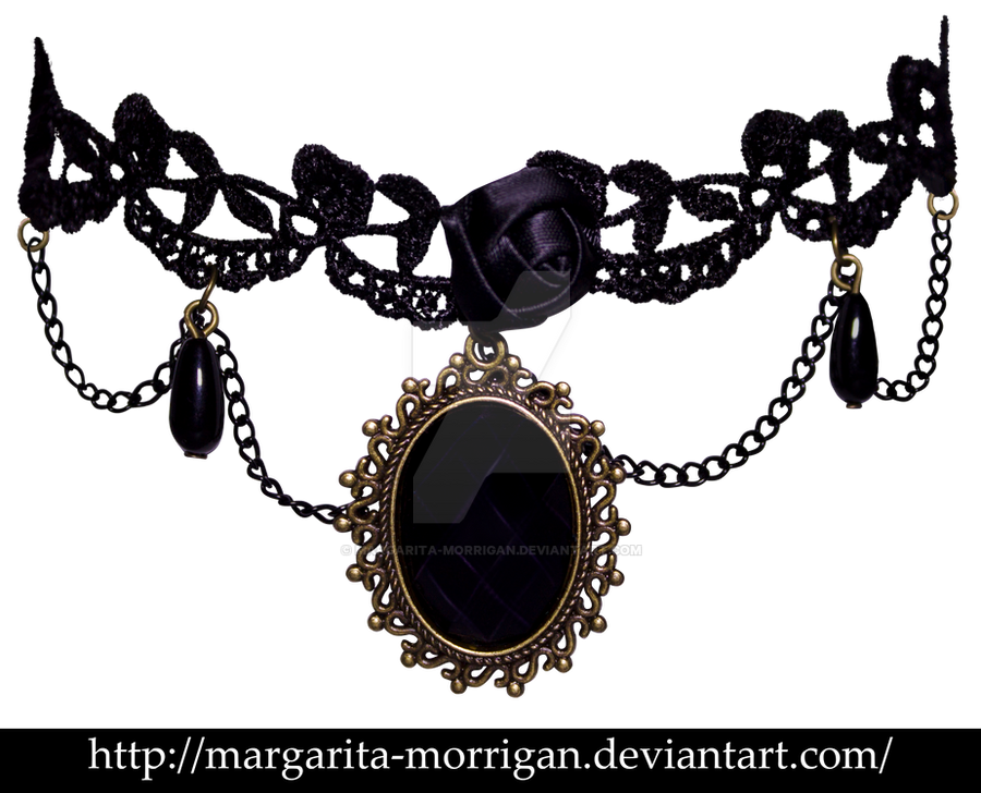 lace necklace by margarita-morrigan