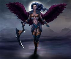Dark Valkyrie Diana by Hinaoki