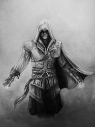 mysterious hooded man by BaukjeSpirit