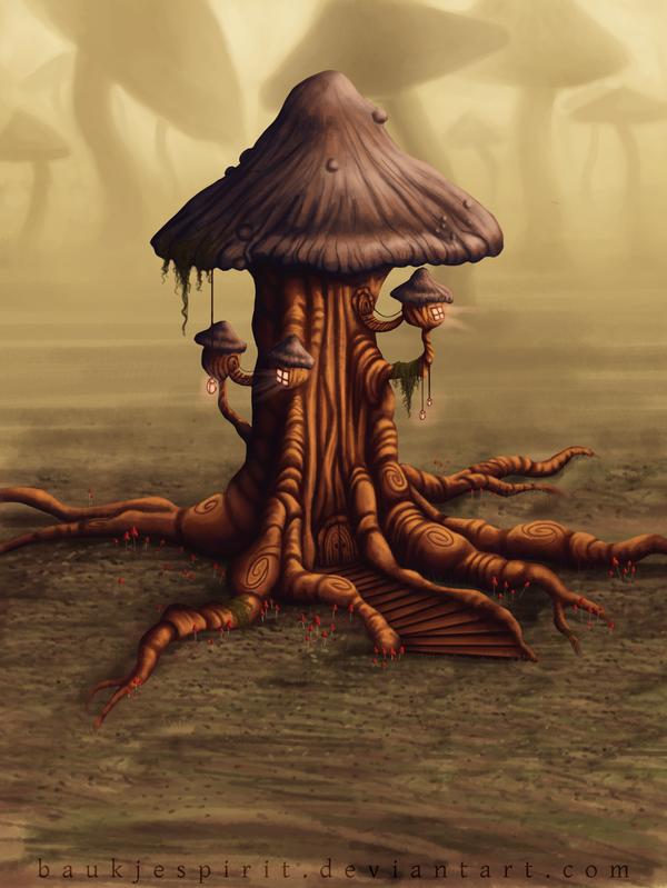 mushroom_tree_by_baukjespirit-d5v9cw2.pn