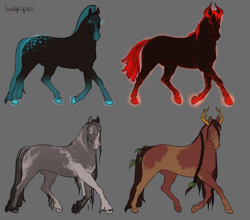 Horse designs by BaukjeSpirit