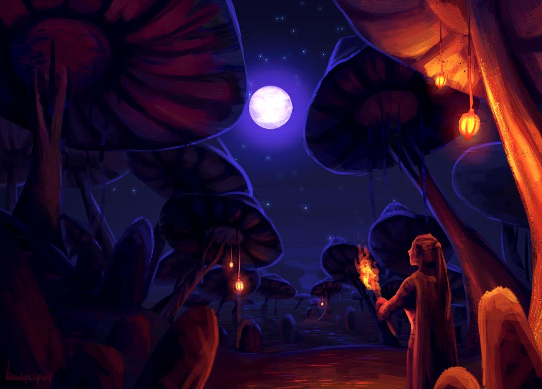 Mushroom forest by BaukjeSpirit
