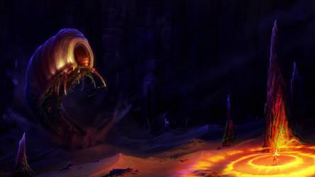 Maggot attack! - diablo II fanart