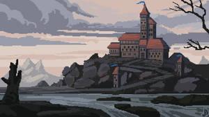Pixel Castle Landscape