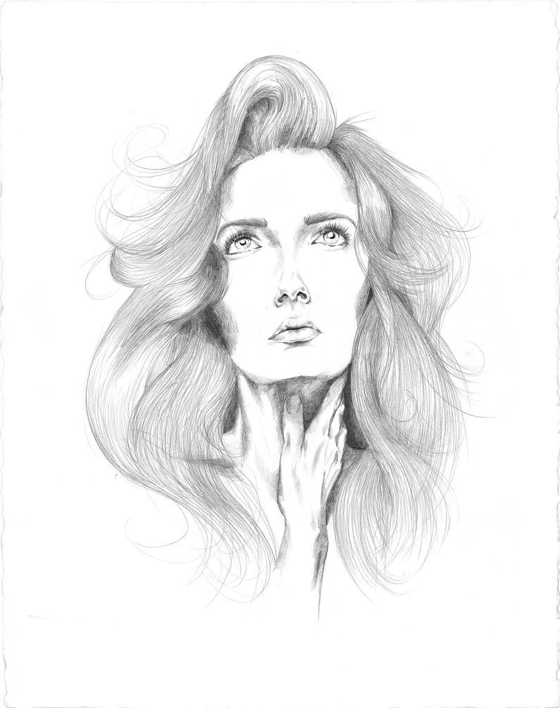 Girl Looking Up By HaydenDavisDesign On DeviantArt