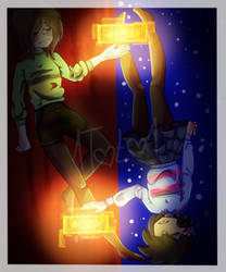 Chara and Frisk by 1Toto1