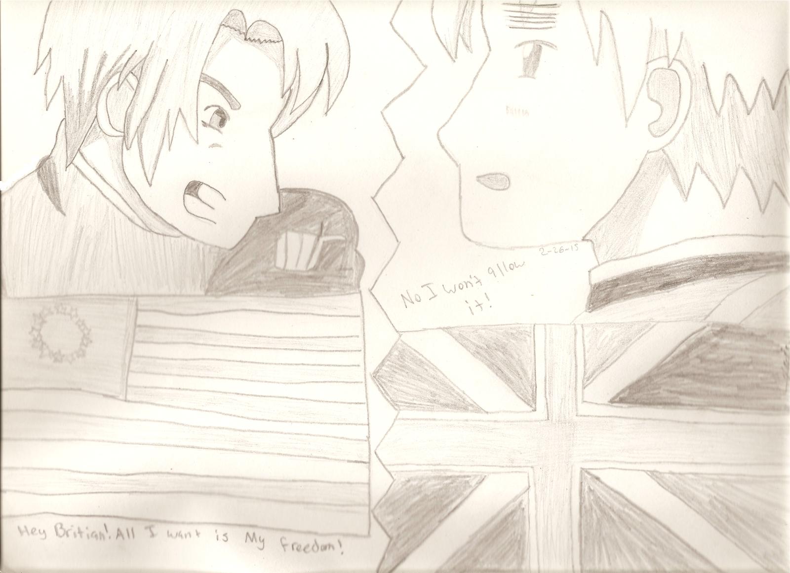 America v.s England by IesKitty-Cat