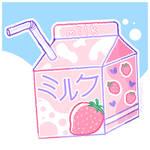 Strawberry Milk Acrylic Charm