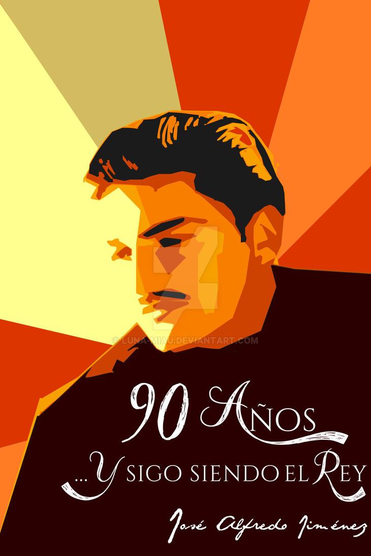 Jose Alfredo 90 years poster (warm colours) by Luna-Miau