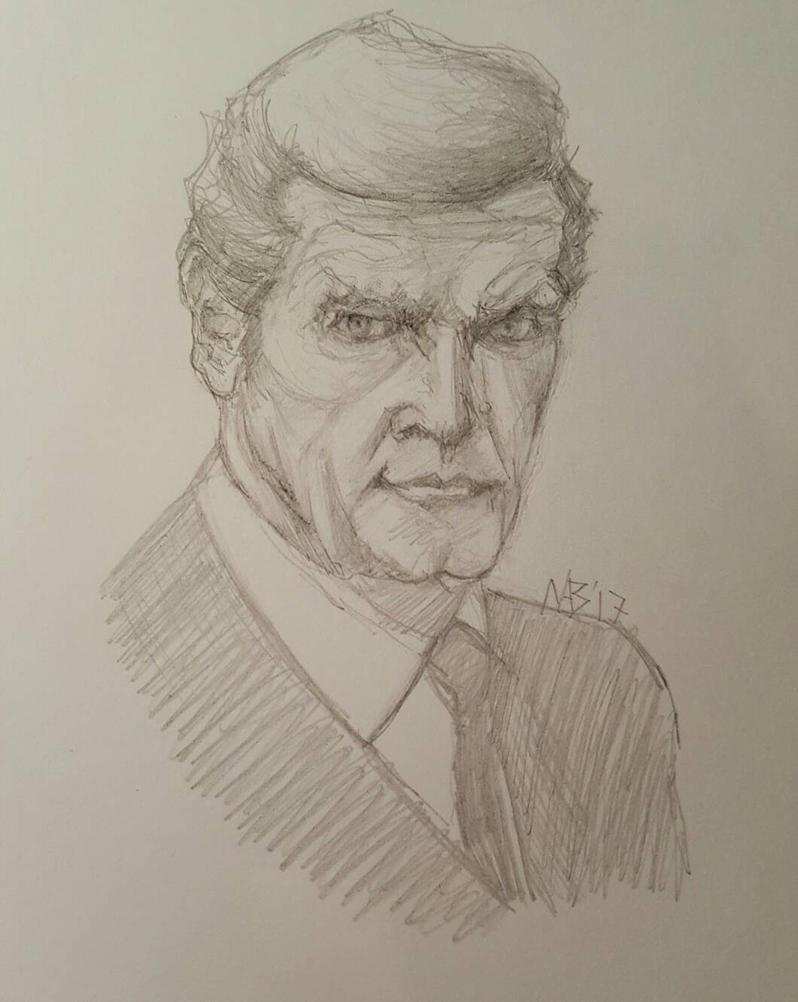 RIP Sir Roger Moore by Neilbrady