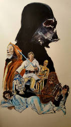 Star Wars illustration version 2.  by Neilbrady