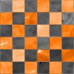 Black And Orange Glass CHECKS