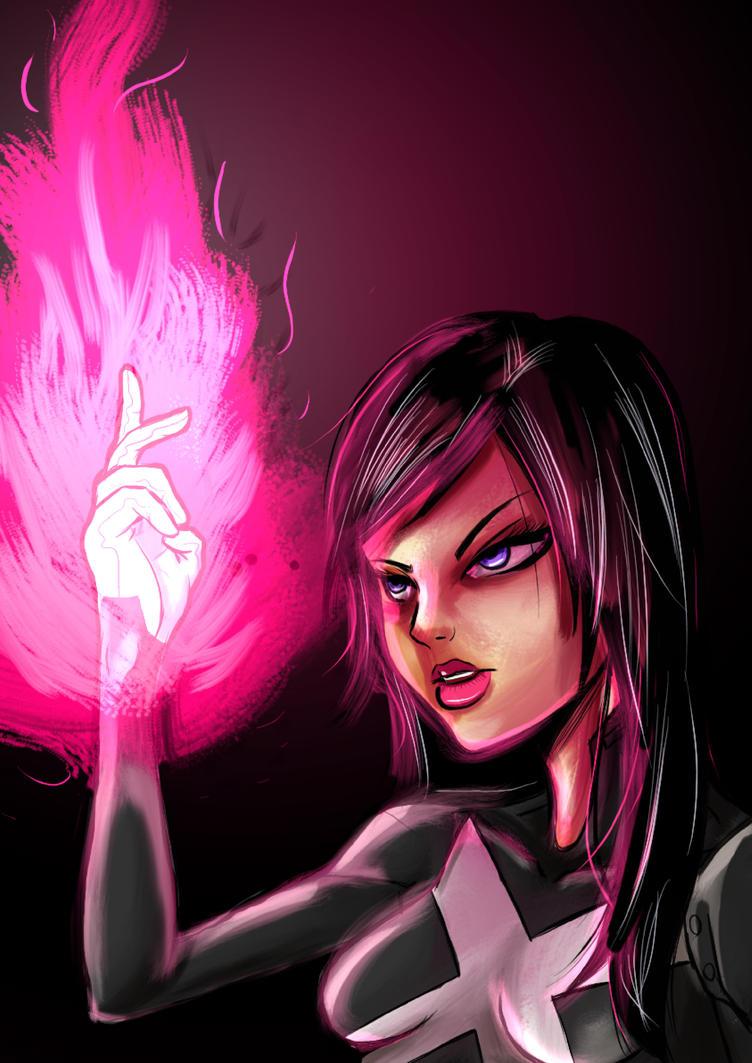 Psylocke by KingPuddinArt