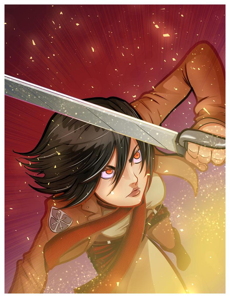 Mikasa by KingPuddinArt