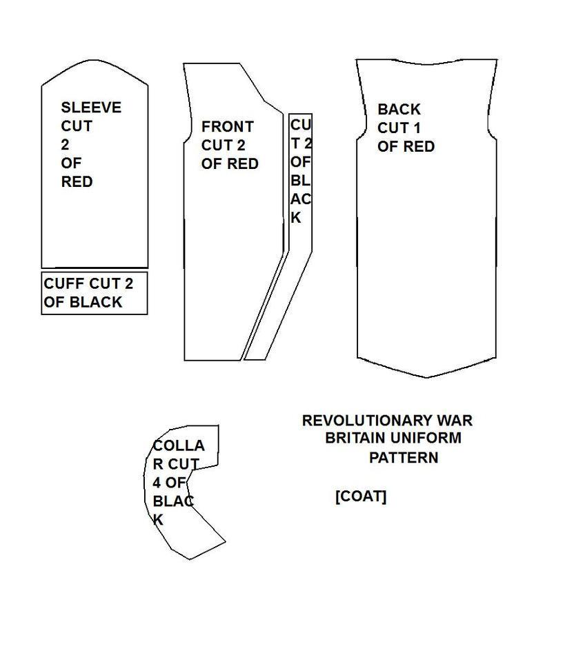 Revolutionary War Britain Sewing Pattern by FlyingMintVodka
