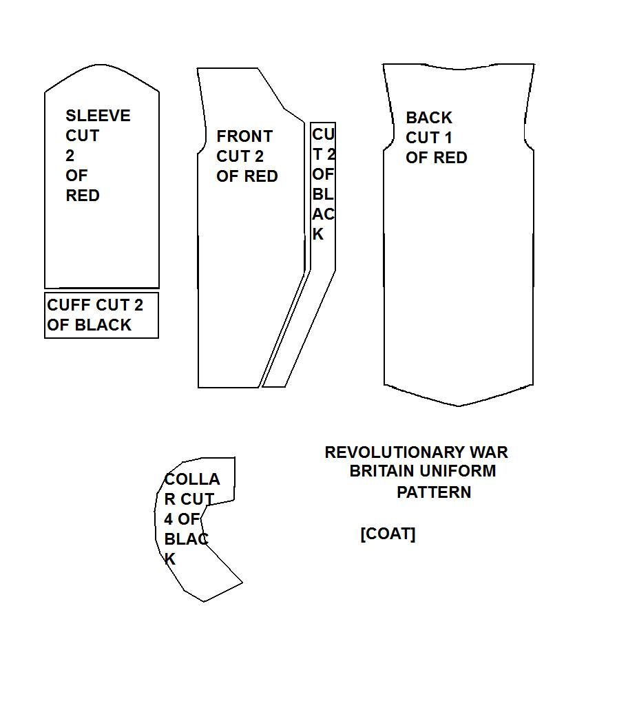 Revolutionary War Britain Sewing Pattern by FlyingMintVodka