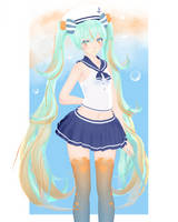 DL: Tda Marine Miku [HAPPY BIRTHDAY MIKU] by Jjinomu